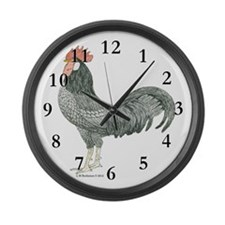 Adam Rooster Large Wall Clock