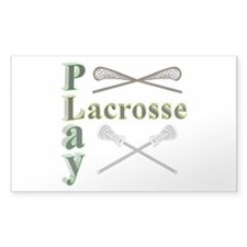 Play Lacrosse Decal