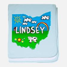 Lindsey, Ohio. Kid Themed baby blanket