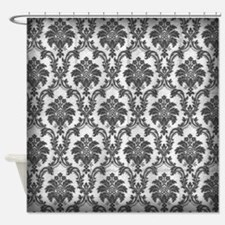 Black And White Damask Shower Curtain black and white damask shower curtains | black and white damask