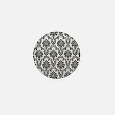 Damask Mini Button