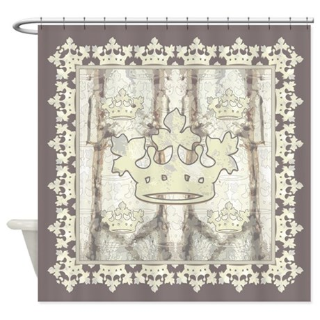 Sherwood Forest Crown Shower Curtain