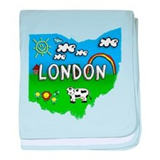 London, Ohio. Kid Themed baby blanket