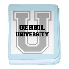 Gerbil UNIVERSITY baby blanket