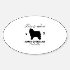 Bearded Collie daddy Sticker (Oval)