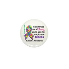 Blessing 4 Autism Mini Button (100 pack)