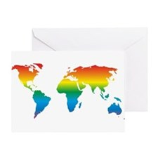 world rainbow 2: Greeting Card
