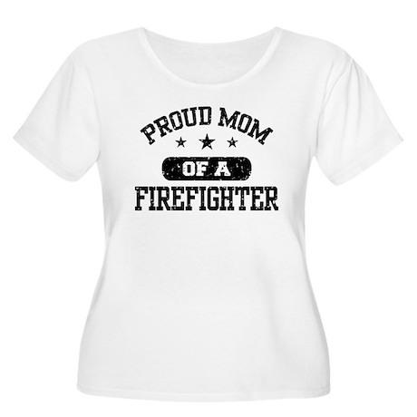 Proud Mom of a Firefighter Women's Plus Size Scoop