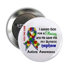 "Blessing 4 Autism 2.25"" Button (10 pack)"