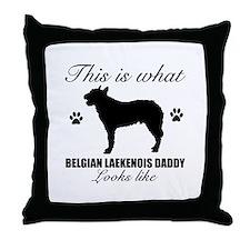 Belgian Laekenois daddy Throw Pillow