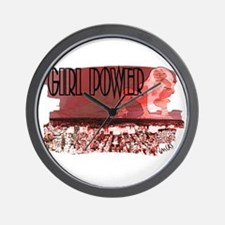 girl power Wall Clock
