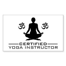 Certified Yoga Instructor Bumper Stickers