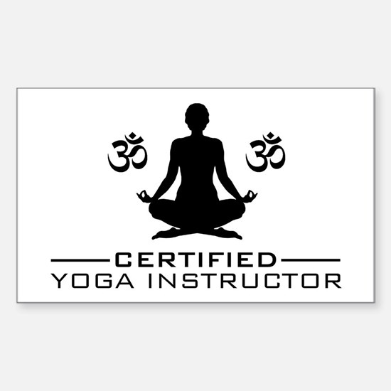 Certified Yoga Instructor Sticker (Rectangle)