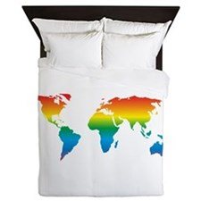 world rainbow 2: Queen Duvet
