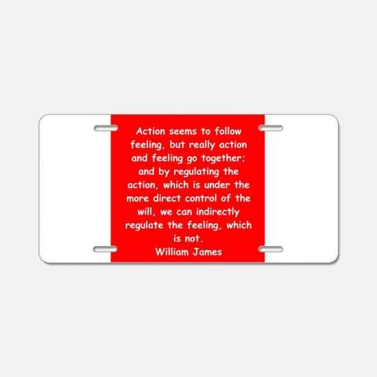 william james Aluminum License Plate