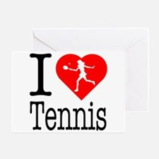 I Love Tennis Greeting Card