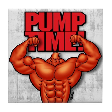 PUMP TIME! - Tile Coaster
