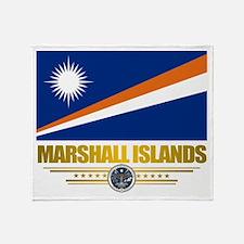 """Marshall Islands Flag"" Throw Blanket"