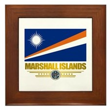 """""""Marshall Islands Flag"""" Framed Tile"""
