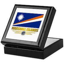 """""""Marshall Islands Flag"""" Keepsake Box"""