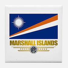 """Marshall Islands Flag"" Tile Coaster"