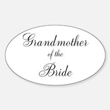Grandmother of the Bride Sticker (Oval)