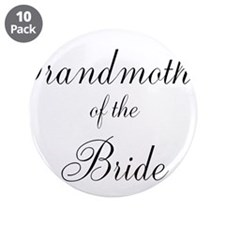 "Grandmother of the Bride 3.5"" Button (10 pack)"