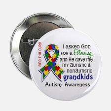 "Blessing 4 Autism 2.25"" Button"