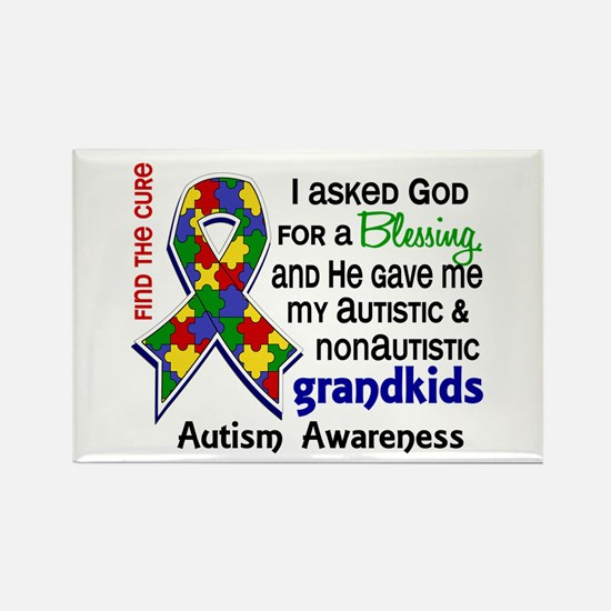 Blessing 4 Autism Rectangle Magnet