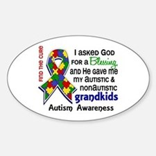 Blessing 4 Autism Sticker (Oval)