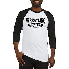 Wrestling Dad Baseball Jersey
