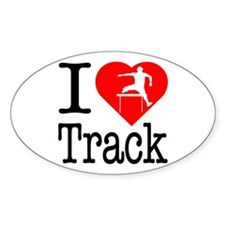 I Love Track Decal