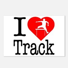 I Love Track Postcards (Package of 8)