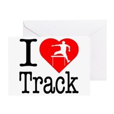 I Love Track Greeting Card