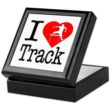 I Love Track Keepsake Box