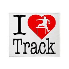I Love Track Throw Blanket