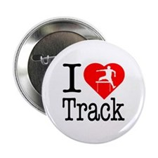 """I Love Track 2.25"""" Button (10 pack)"""