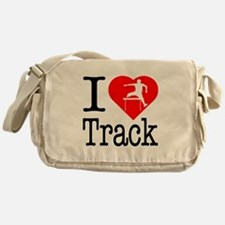 I Love Track Messenger Bag