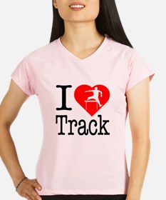 I Love Track Performance Dry T-Shirt