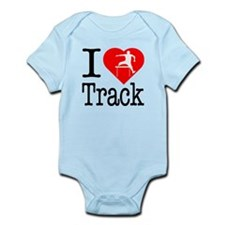 I Love Track Infant Bodysuit