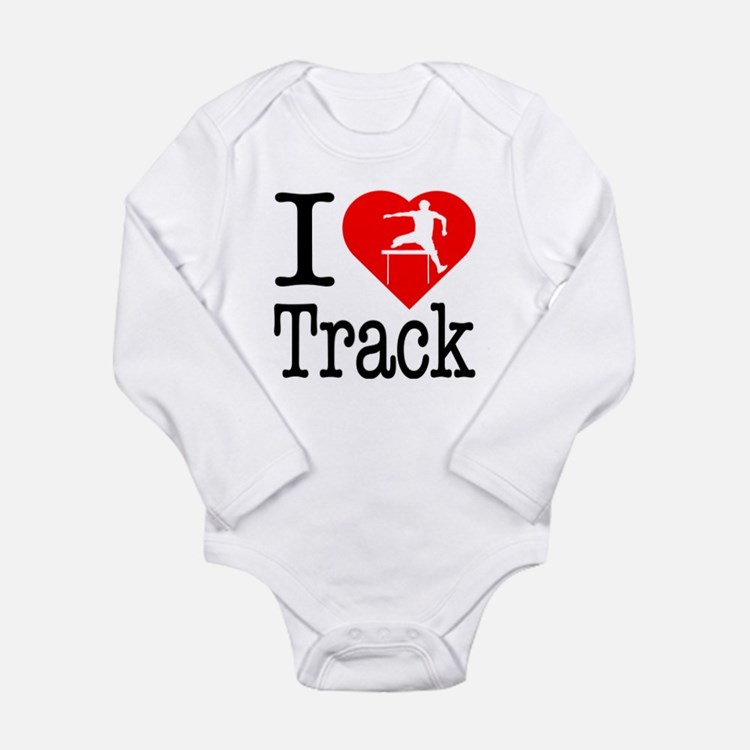 I Love Track Long Sleeve Infant Bodysuit