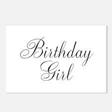 Birthday Girl Black Script Postcards (Package of 8