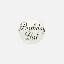Birthday Girl Black Script Mini Button (10 pack)