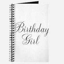 Birthday Girl Black Script Journal