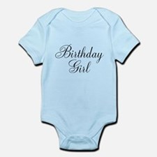 Birthday Girl Black Script Infant Bodysuit