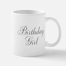 Birthday Girl Black Script Small Small Mug