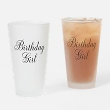 Birthday Girl Black Script Drinking Glass