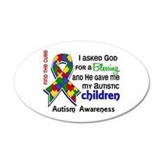 Blessing 4 Autism 22x14 Oval Wall Peel