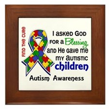 Blessing 4 Autism Framed Tile