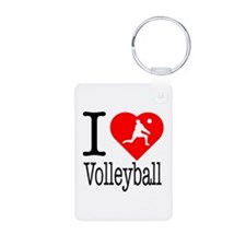 I Love Volleyball Keychains